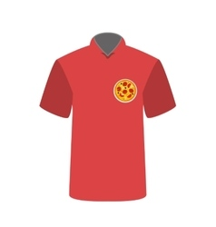 T-shirt employee pizzeria with pizza image vector
