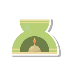 Aromatherapy candle spa isolated icon vector