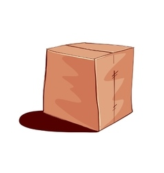 Closed paper box vector image