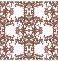 Vintage rococo ornament pattern vector