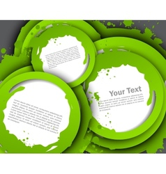 Abstract background with green circles vector
