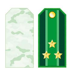 green military shoulder straps vector image