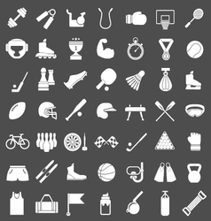 Set icons of sports and fitness equipment vector