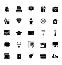 Art and creation icons on white background vector