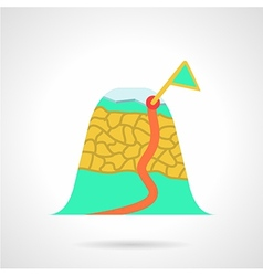 Mountain route flat icon vector