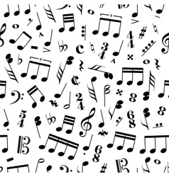 Many music signs and note on white background vector image