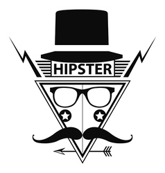 Hipster logo style vector