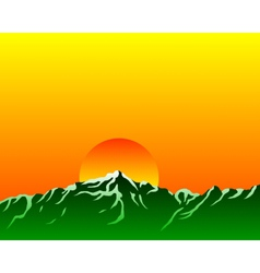 mountains with sun vector image