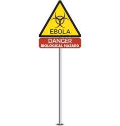 Sign of ebola biological hazard vector
