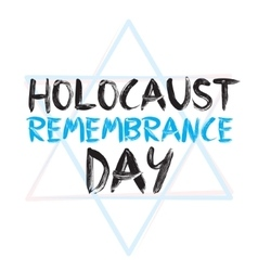 Holocaust remembrance day card jewish vector