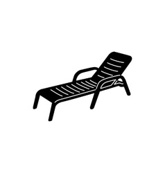 Chaise icon simple style vector