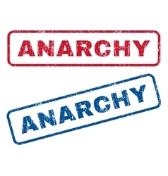 Anarchy rubber stamps vector