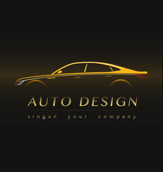 auto company yellow logo vector image