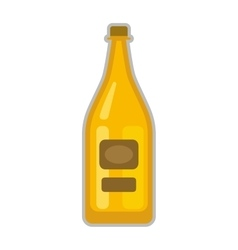 Beer bottle vector image