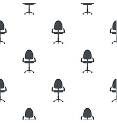 Black modern office chair pattern flat vector