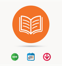 Book icon study literature sign vector