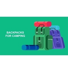Camping Weekend icon vector image