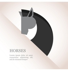 chinese new year year of horse vector image