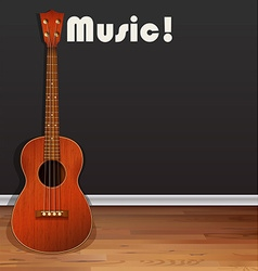 Classic guitar on the floor vector image