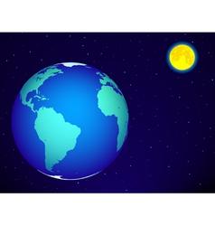 Earth and moon vector