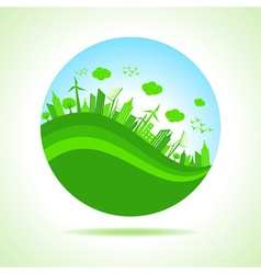 ecology concept with - save nature vector image