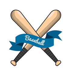 Emblem baseball game icon vector