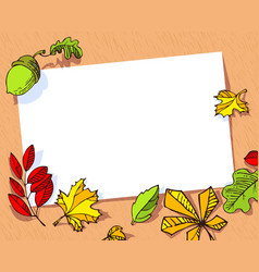 fall season banner autumn frame with bright vector image