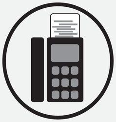 Fax device icon monochrome black white vector
