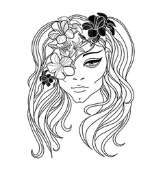 Flower girl 2 vector