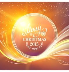 Futuristic christmas card vector image vector image