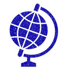globe icon grunge watermark vector image vector image