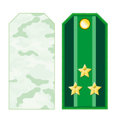 Green military shoulder straps vector