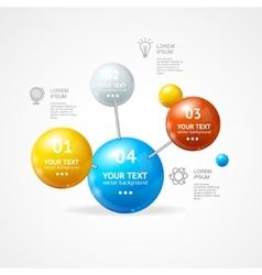 infografic molecule vector image vector image