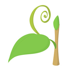 little plant icon cartoon style vector image vector image