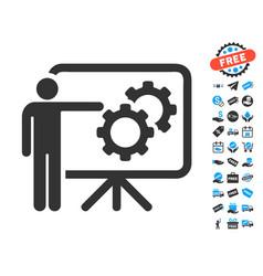 Mechanics report board icon with free bonus vector