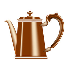 old metallic teapot and coffee pot vector image vector image