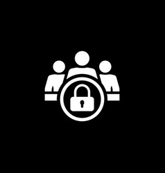 personal data protection icon flat design vector image
