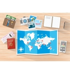 Planning a vacation concept vector