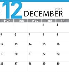 planning calendar December 2016 vector image vector image
