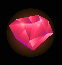 Red precious gem vector