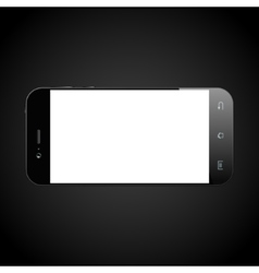 Smartphone black isolated vector image vector image