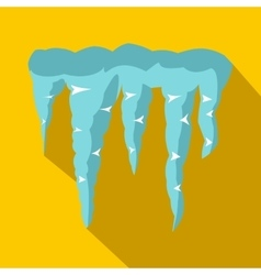 Spring icicles icon flat style vector image