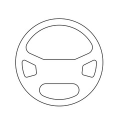 Steering wheel the black color icon vector