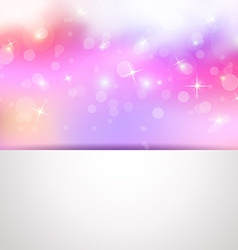 Sweet colorful background greeting card vector