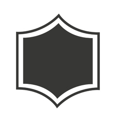Shield seal frame icon vector