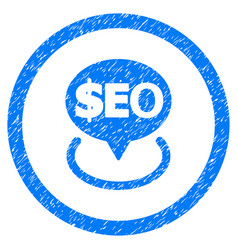 Geotargeting seo rounded grainy icon vector