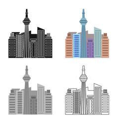 canadian skyscraper canada single icon in cartoon vector image