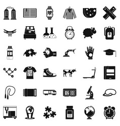 Scientific things icons set simple style vector