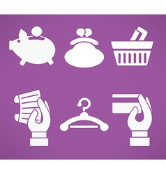 banking and shopping vector image