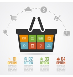 e commerce infographic 4 vector image